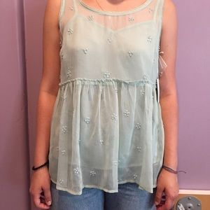 Teal Lauren Conrad top